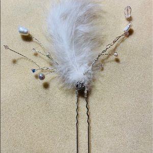 Bridal hair pins beautiful handmade one of a kind.